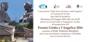 Invito premio Giotto e l'Angelico 2016
